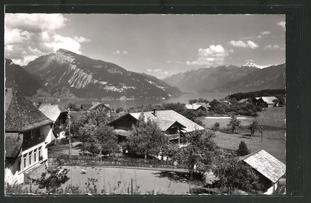 AK Hondrich, Blick auf Niederhorn, Thunersee und Wetterhorn