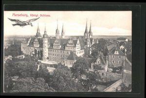 AK Merseburg, königliches Schloss mit Rabe