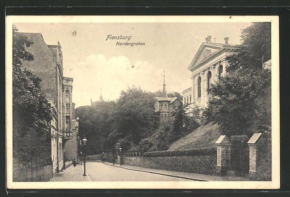 AK Flensburg, Strasse am Nordergraben