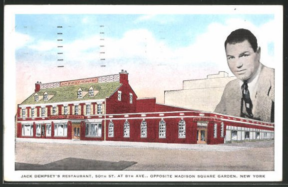 AK New York, NY, Jack Dempsey's Restaurant, 50th Street at 8th Avenue, Opposite Madison Square Garden