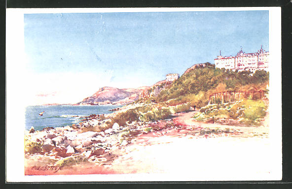 Künstler-AK Ernest Lessieux: Le Cap Martin, Gesamtansicht