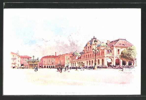 Künstler-AK Ernest Lessieux: Nige, Place Massena