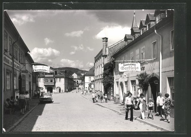 AK Leutenberg, Strassenpartie mit Gaststätte