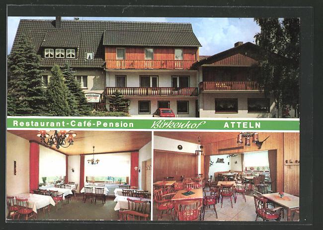 AK Lichtenau-Atteln, Restaurant-Café