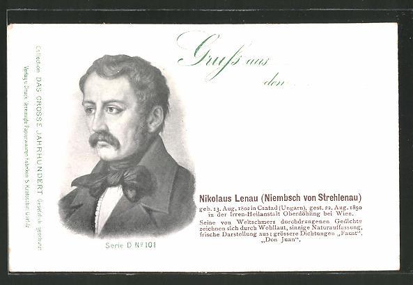 AK Nikolaus Lenau (Niembsch von Strehlenau), Dichter