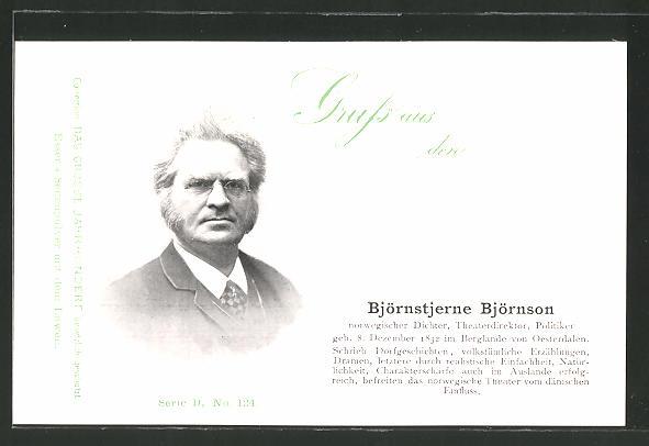 AK Portrait des Norwegischen Dichter-Theaterdirektor und Politikers Björnstjerne Björnson