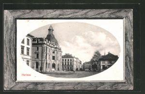 AK Herisau, Ortspartie am Postgebäude