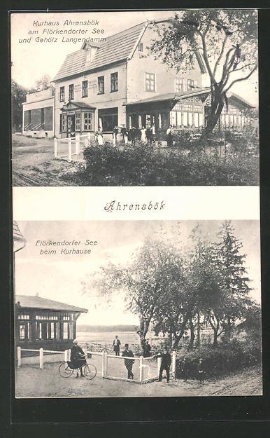 AK Ahrensbök, Kurhaus am Flörkendorter See und Gehölz Langendamm 0