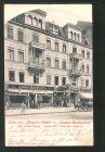 AK Berlin, Briese's Hotel und Linden-Restaurant, Unter den Linden 44, heute Unter den Linden 15 0