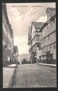 AK Bad Wildungen, Blick in die Brunnenstrasse mit Geschäften 0