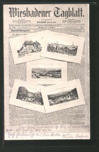 AK Wiesbaden, Wiesbadener Tagblatt von 1901, Zeitung 0