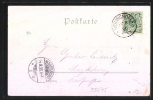 Lithographie Deilinghofen, Gasthof zum Felsenmeer von Platthau, Capelle, Teufelsmauer 1