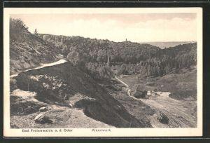 AK Bad Freienwalde, Blick auf den Steinbruch des Alaunwerkes 0