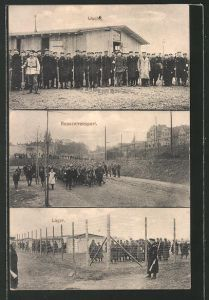 AK Merseburg, Ansichten aus dem Kriegsgefangenen-Lager 0