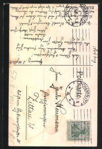 Künstler-AK Chemnitz, Margeritentag 28.2.1911, Mädchen mit Korb voller Margeriten 1