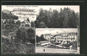 AK Rheinfelden, Blick zum Hotel Schützen