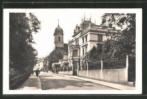 AK Baden, Strassenpartie an der Reform. Kirche 0