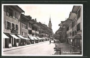 AK Zofingen, Strassenpartie mit Geschäften in der Unterstadt 0