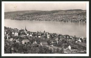 AK Oberrieden a. Zürichsee, Totalansicht gegen Erlenbach