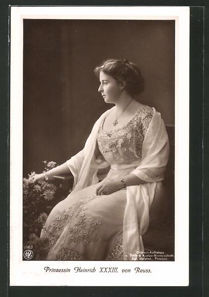 AK Prinzessin Heinrich XXXIII. von Reuss