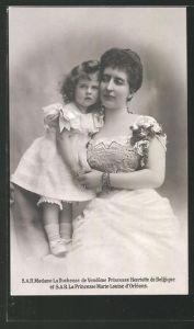 AK S. A. R. Madame la Duchesse de Vendome Princesse Henriette de Belgique et la Princesse Marie-Louise d'Orléans
