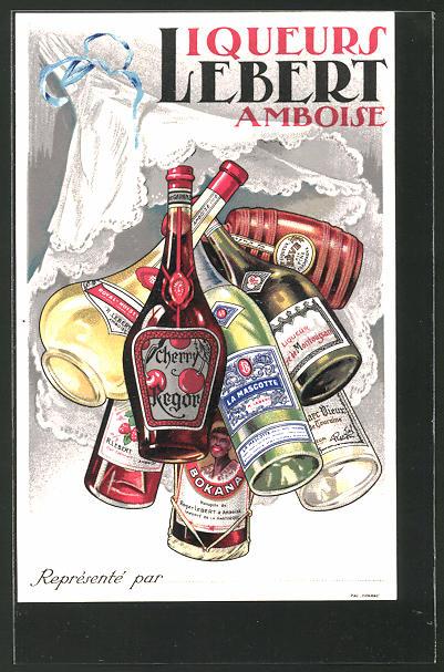 AK Liqueurs Lebert Amboise, Reklame