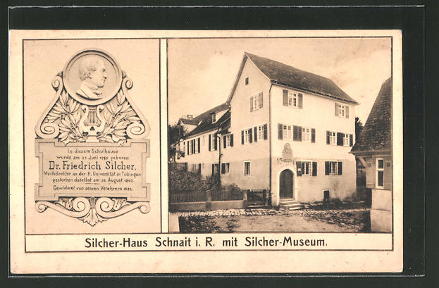 AK Schnait, Silcher-Haus mit Silcher-Museum
