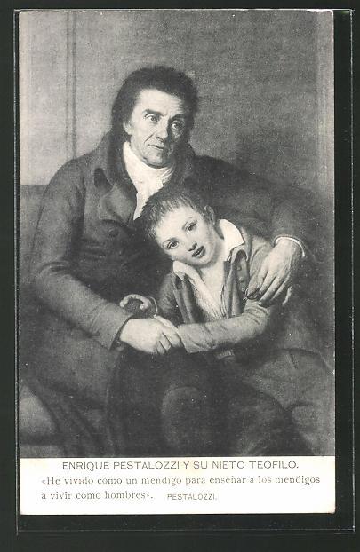 AK Enrique Pestalozzi y su Nieto Teófilo