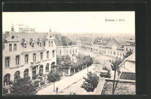 AK Güsten, Strassenansicht mit Thüringer Hof