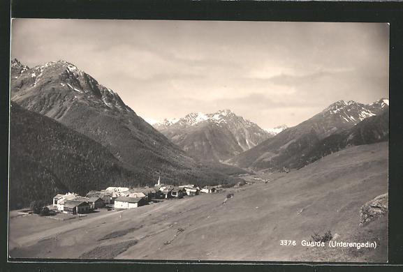 AK Guarda, Ortsansicht aus der Ferne