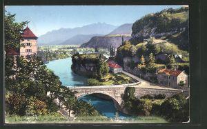 AK Saint-Maurice, Pont et ancienne fortresse au poste de police vaudois