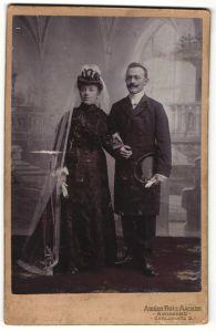 Fotografie Fritz Acker, Annaberg, Portrait Braut und Bräutigam