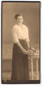 Fotografie Koenig, Altenburg, Portrait junge bürgerliche Dame