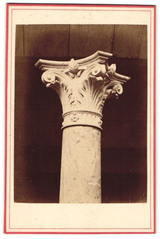Fotografie Carl Kesselhuth, Hildesheim, Ansicht Hildesheim, Detail einer Säule vom Hanse-Monument, Architekt Wilsdorff
