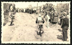 Fotografie Motorrad NSU-GS, Motorrad im Rennen Start- Nr.: 75