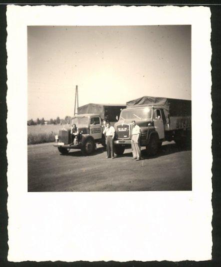 Fotografie Lastwagen MAN und Mercedes Benz, LKW's der Spedition Stupa - Wilhelm Stute in Paderborn