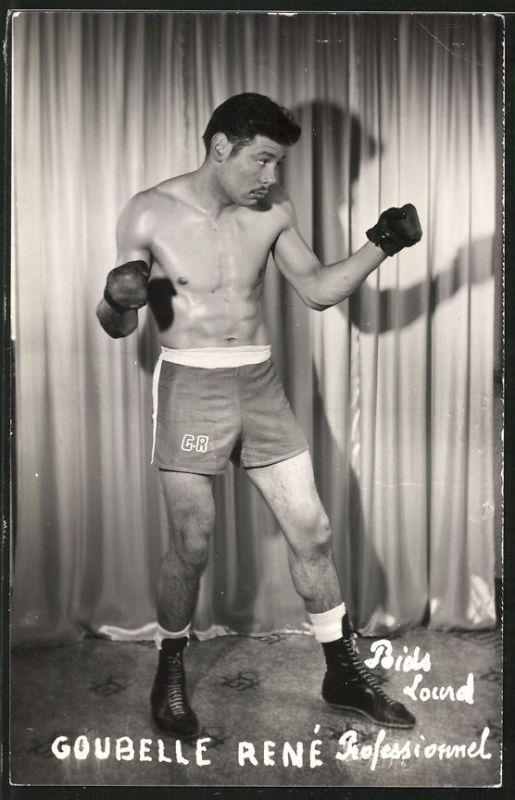 Fotografie Boxer Goubelle René, Profi-Boxer beim Aufwärmen
