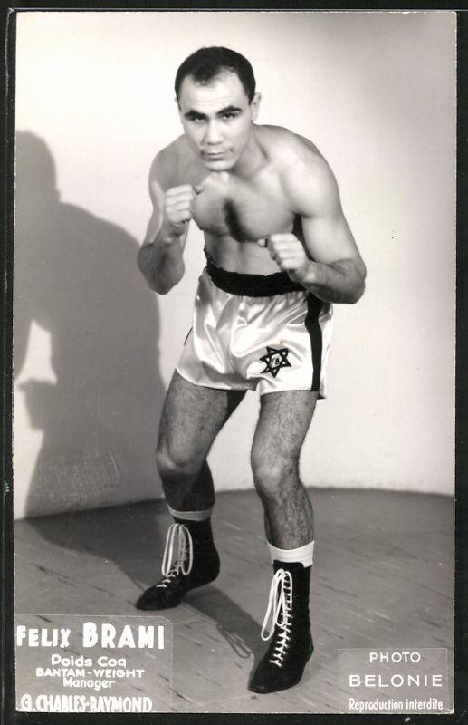 Fotografie Belonie, Boxer Felix Brami, Profi-Boxer im Bantam-Gewicht beim Aufwärmen