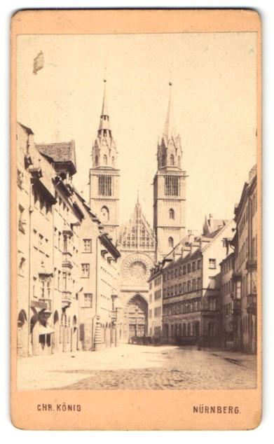 Fotografie Chr. König, Nürnberg, Ansicht Nürnberg, Lorenzkirche