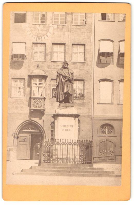 Fotografie unbekannter Fotograf, Ansicht Nürnberg, Albrecht Dürer-Standbild