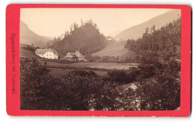 Fotografie Nicolaus Kuss, Mariazell, Ansicht Sigmundsberg bei Mariazell