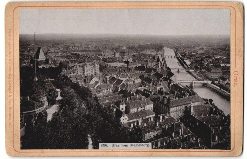 Fotografie Stengel & Co., Dresden, Ansicht Graz, Blick vom Schlossberg aus