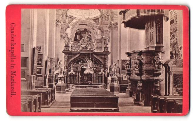 Fotografie Nicolaus Kuss, Mariazell, Ansicht Mariazell, Gnadenkapelle, Inneres