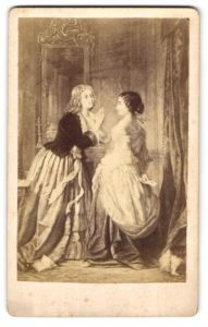 Fotografie Gemälde zwei edle junge Damen