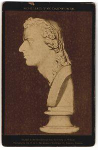 Fotografie F. & O. Brockmann's Nachfolger, Dresden, Büste von Dannecker, Schiller