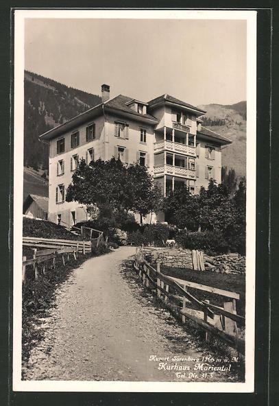 AK Sörenberg, Blick zum Kurhaus Marienthal