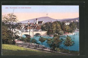 AK Rheinfelden, Ortspartie mit Hotel Schützen