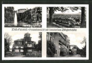 AK Bad Hersfeld, Gesamtansicht mit Sanatorium Wigbertshöhe