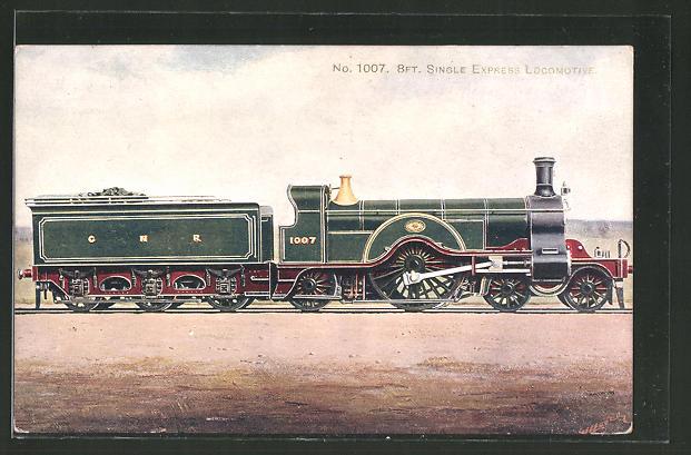 Künstler-AK englische Eisenbahn vom Typ