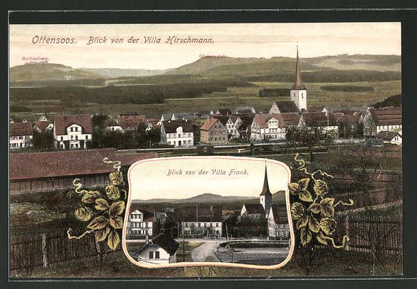 AK Ottensoos, Blick von der Villa Hirschmann, Blick von der Villa Frank
